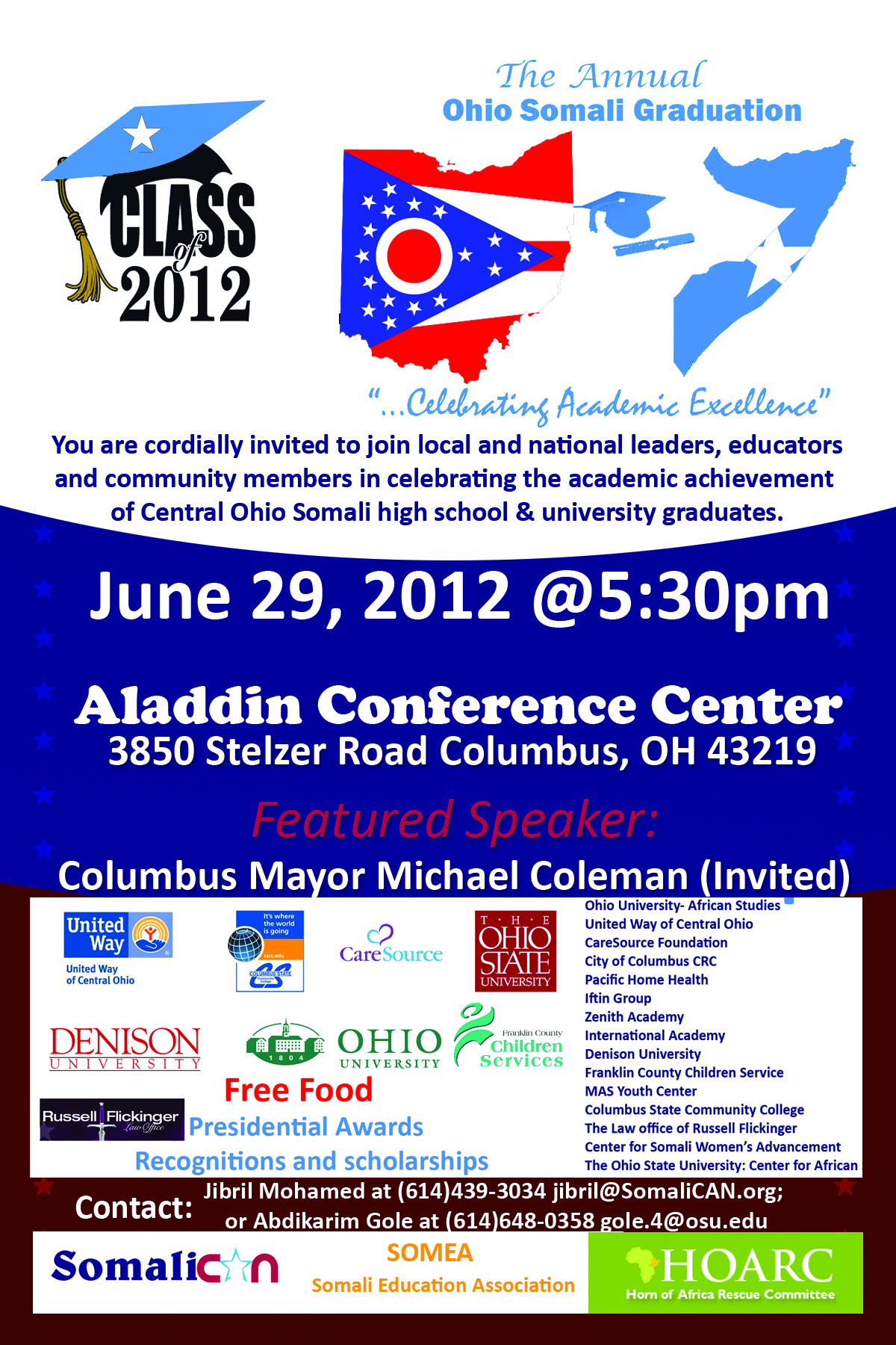 The third annual ohio somali graduation, teachers' workshop